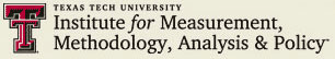 Texas Tech University Institute for Measurement, Methodology, Analysis and Policy